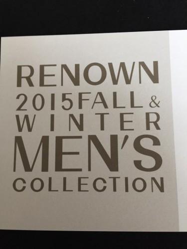レナウン 2015年 秋冬の内見会へ……