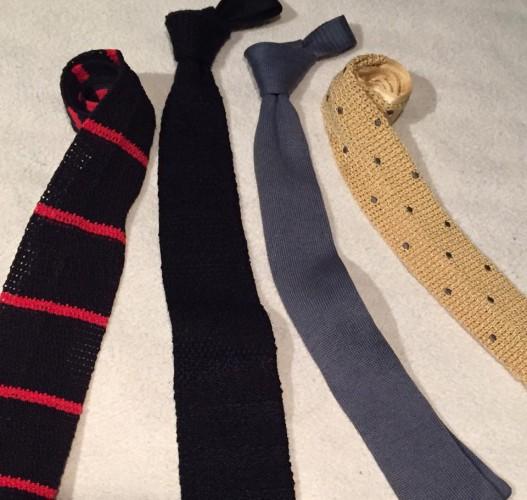 ニッテッド・タイ(knitted tie)